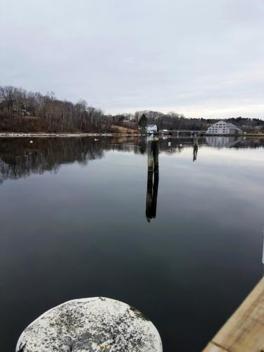 Thomaston Harbor in Winter