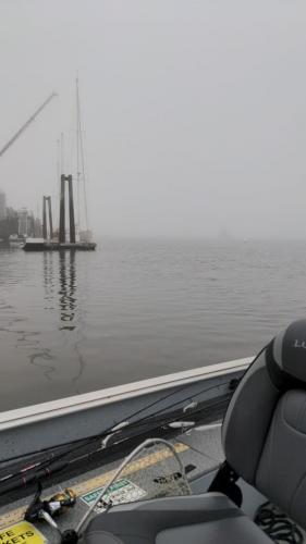 Thomaston Harbor on a Foggy Morning
